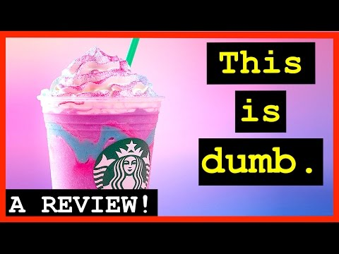 WATCH A GROWN MAN REVIEW THIS DUMB COFFEE. (Starbucks Unicorn Frappuccino Review)