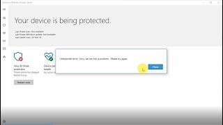 Windows Defender not restarting Error! Solved