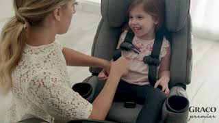 How To Install 4Ever® DLX Extend2Fit® Ft. Anti-Rebound Bar Rear-Facing Using Vehicle Seat Belt