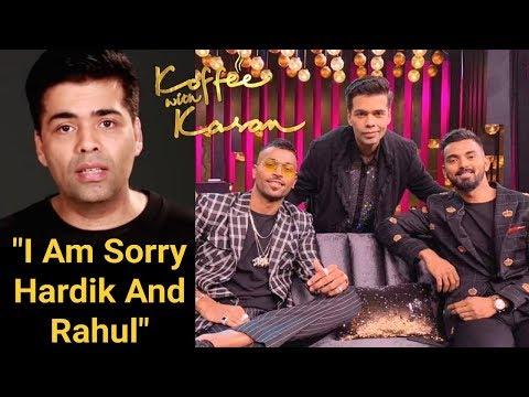 Karan Johar FINALLY Speaks On Hardik Pandya And KL Rahul Koffee With Karan Controversy