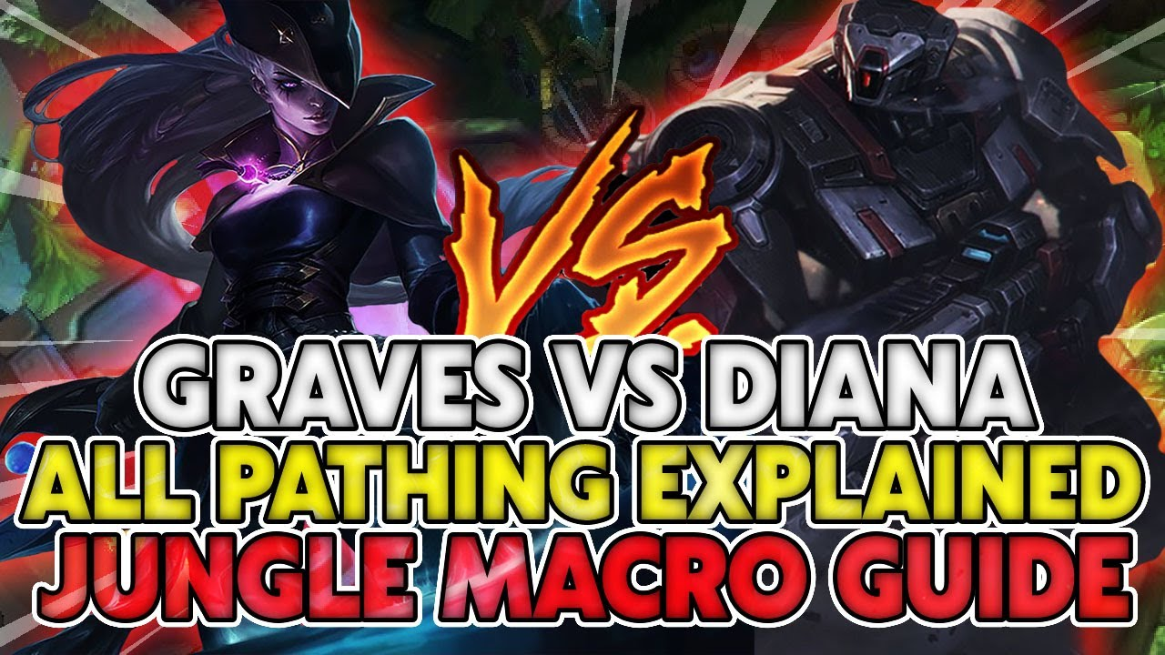 Download Graves vs Diana - ALL Pathing Explained   Jungle Macro Guide   Master Tier Gameplay