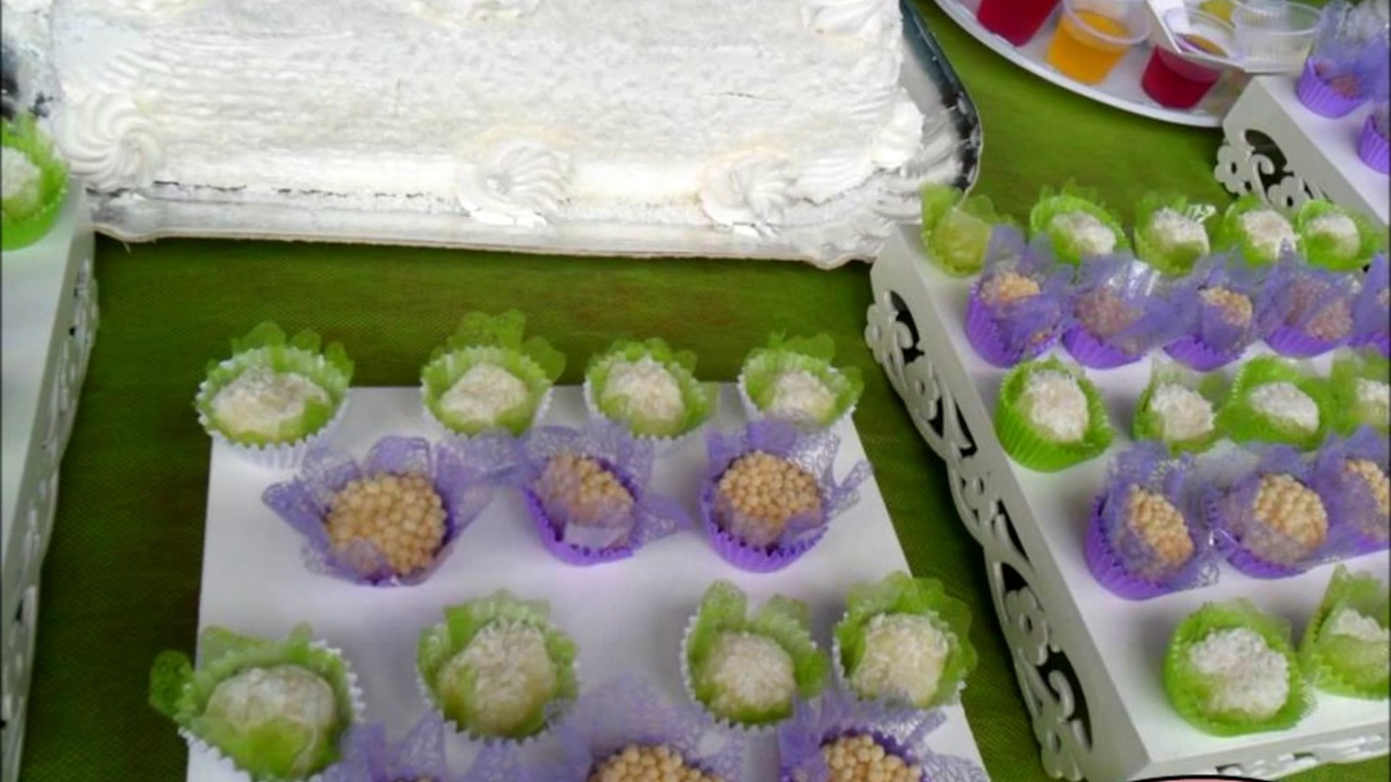 Decoração de festa lilás e verde limão By Anayse Decorações