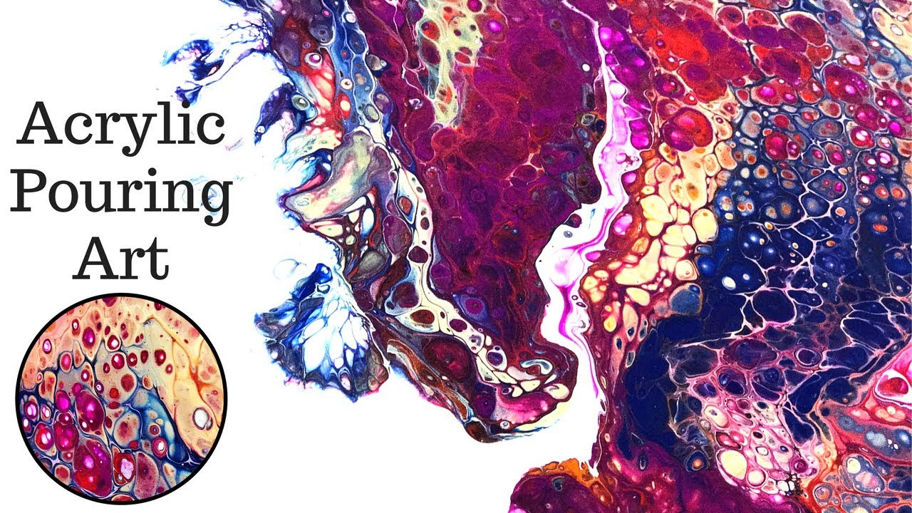 Create Acrylic Paint Pouring Art With Dirty Flip Cups