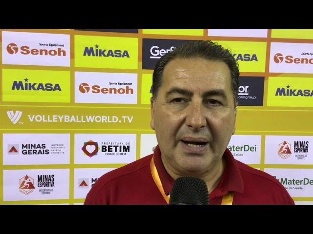 Fefè De Giorgi intervistato dopo la vittoria sull'Al-Rayyan