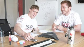 Paddy Jackson tries to sell Les Kiss a £3000 season ticket
