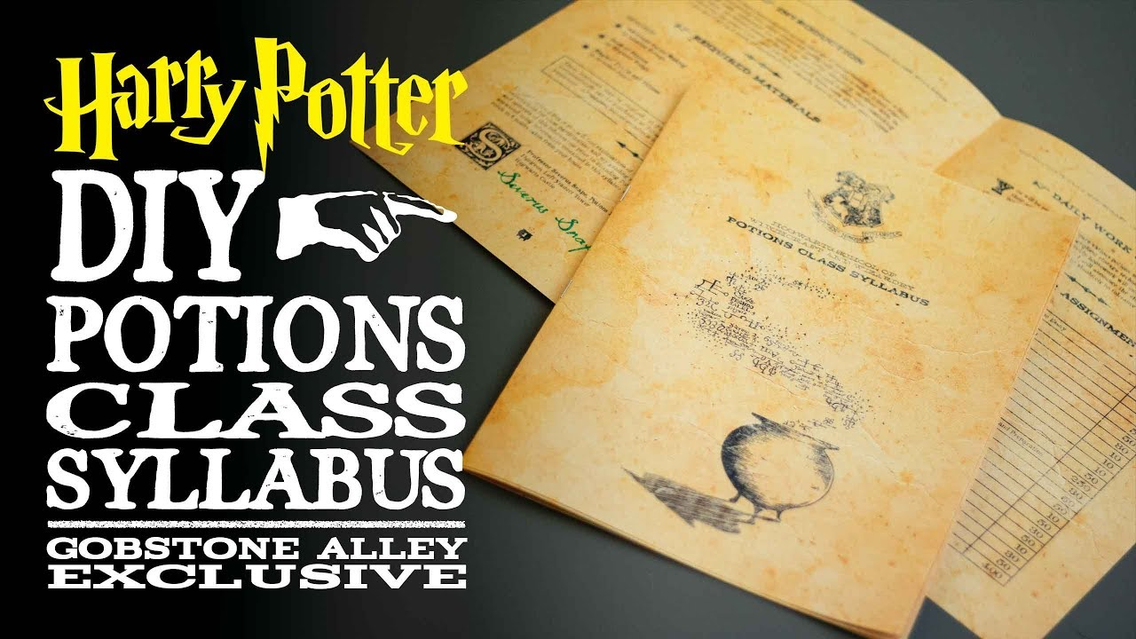photo regarding Harry Potter Potion Book Printable named Potions Cl Syllabus - Harry Potter Do it yourself