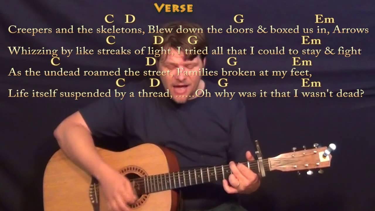 """Fallen Kingdom"" (A Minecraft Parody) Strum Guitar Cover Lesson with  Chords/Lyrics"