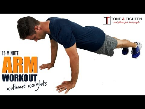 15-Minute At Home Arm Workout Without Weights - No Equipment Required!