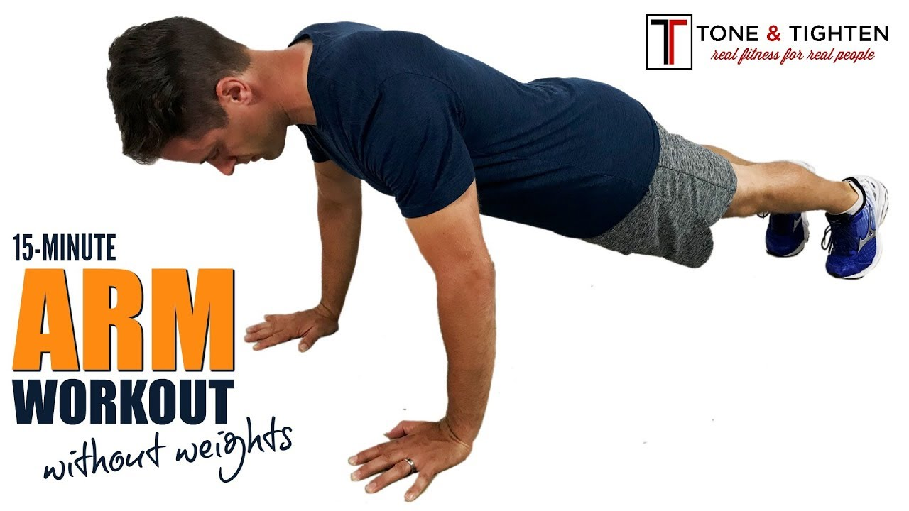 15 Minute At Home Arm Workout Without Weights No Equipment Required