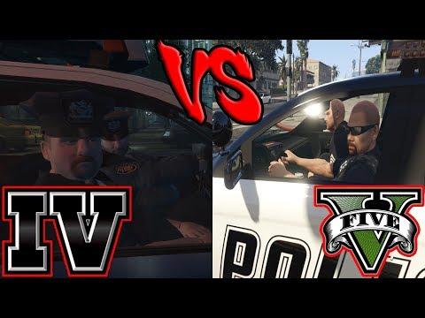 LSPD vs LCPD - Police AI (GTA IV vs GTA V)
