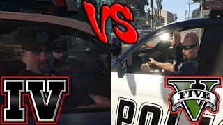 LSPD vs LCPD - Police AI (GTA IV vs GTA V)