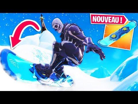 LE SNOWBOARD EST SUR  FORTNITE..