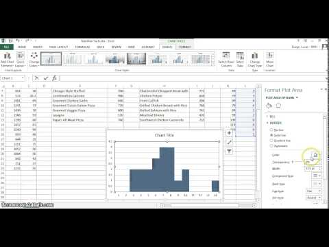 Making a Histogram on Excel 2013