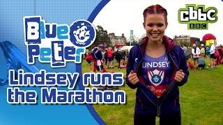 Lindsey runs the London marathon on CBBC Blue Peter!