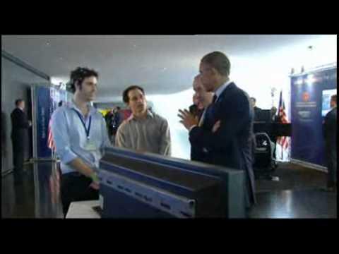 US President Obama Meets Israeli Technologies