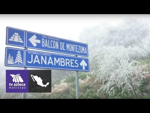 Nieva en la Sierra Madre Oriental