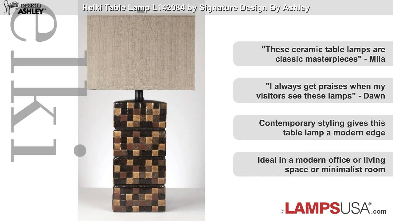 Ashley helki table lamp ceramic l142084 youtube ashley helki table lamp ceramic l142084 lampsusa aloadofball Image collections