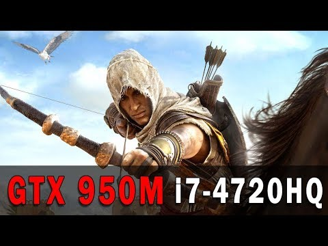 Assassins Creed Origins GTX 950M i7-4720HQ Medium Setting |