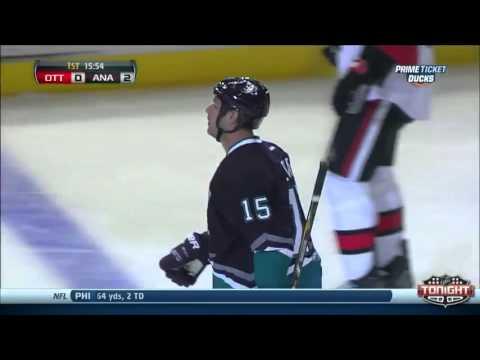 pretty nice 53fda b72cc Anaheim Ducks Throwback Night Ryan Getzlaf game winning Goal