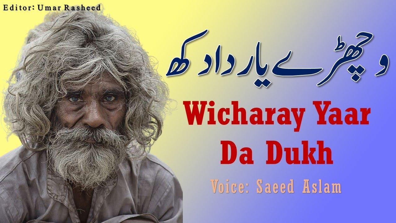 Punjabi Poetry Wicharay Yaar Da Dukh By Saeed Aslam | New Punjabi Shayari Whatsapp Status 2020