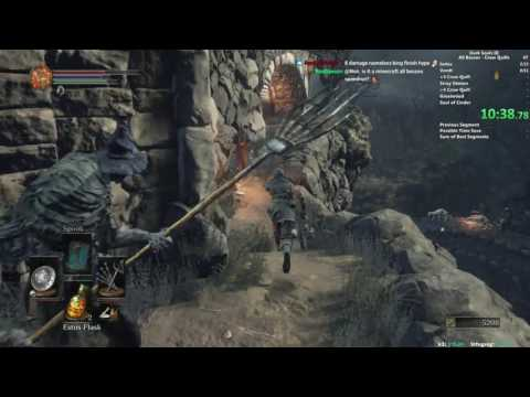 DS3 Crow Quill All Bosses Speedrun