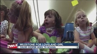 Loveland girl with special needs attends first day of school