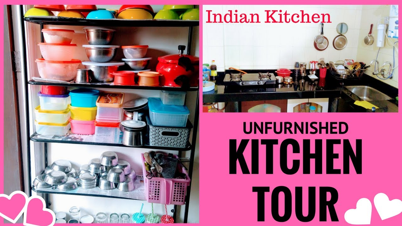 My Small Kitchen Organization /Indian KITCHEN TOUR / Organize Kitchen  Without Cabinets/
