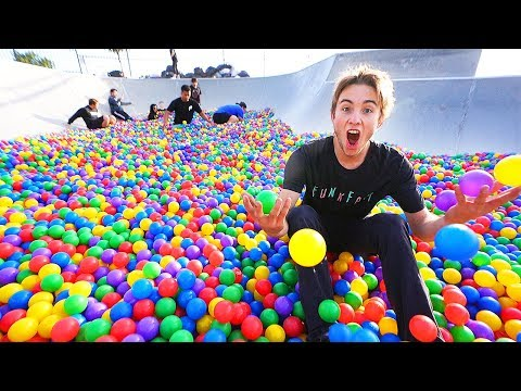 COPS CALLED FOR FILLING SKATEPARK WITH BALL PIT BALLS