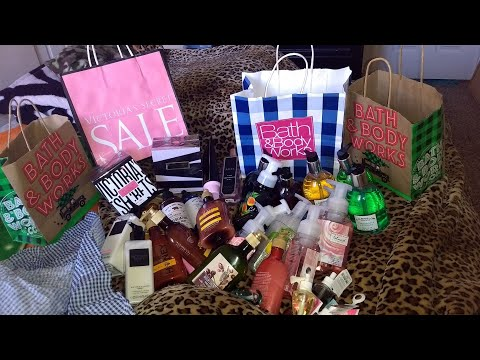 17c7b3f591 bath & body works and victoria secrets semi annual sale haul - YouTube