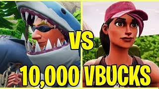 3 GAMES pour 10.000 V BUCKS!! - FORTNITE BATTLE ROYALE!