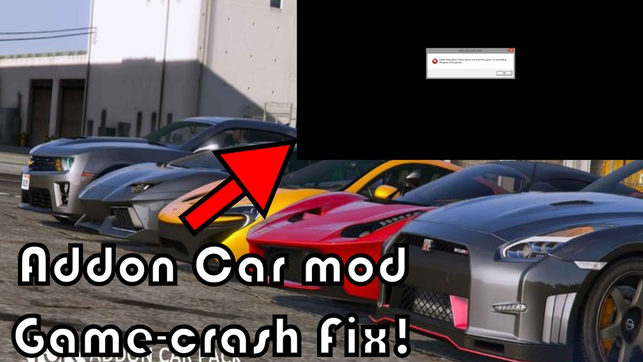 GTA 5 Add-on car mods game crashing Fix! GTA 5 Crash fix tutorial