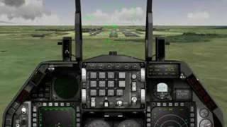 Falcon 4.0 Allied force: landing final approach