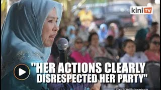 Action must be taken over Zuraida's sex video remarks, says PKR women's wing VP