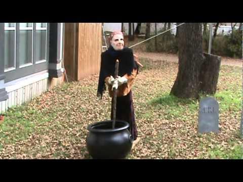homemade halloween animatronic witch
