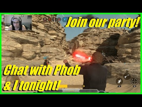 Star Wars Battlefront - Come chat with Phobia & I tonight! | Join our party! | HvsV (Facecam)