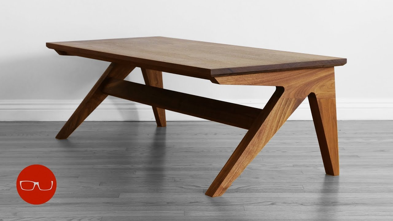 how to build a mid century modern af coffee table