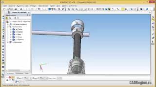 Сборка и анимация домкрата в Компас-3D