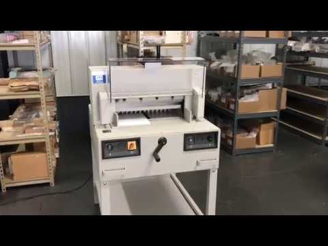 used triumph 4810 95 paper cutter sn 1904567 youtube