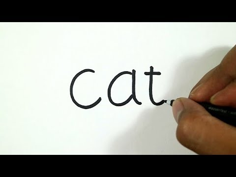 How to Turn Words Cat into a Cartoon