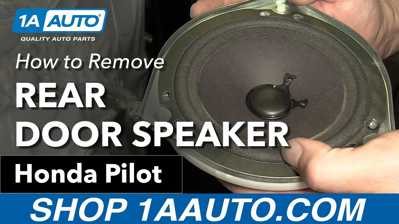 How To Replace Install Rear Door Speaker 2007 Honda Pilot Youtube 06 Wiring Diagram