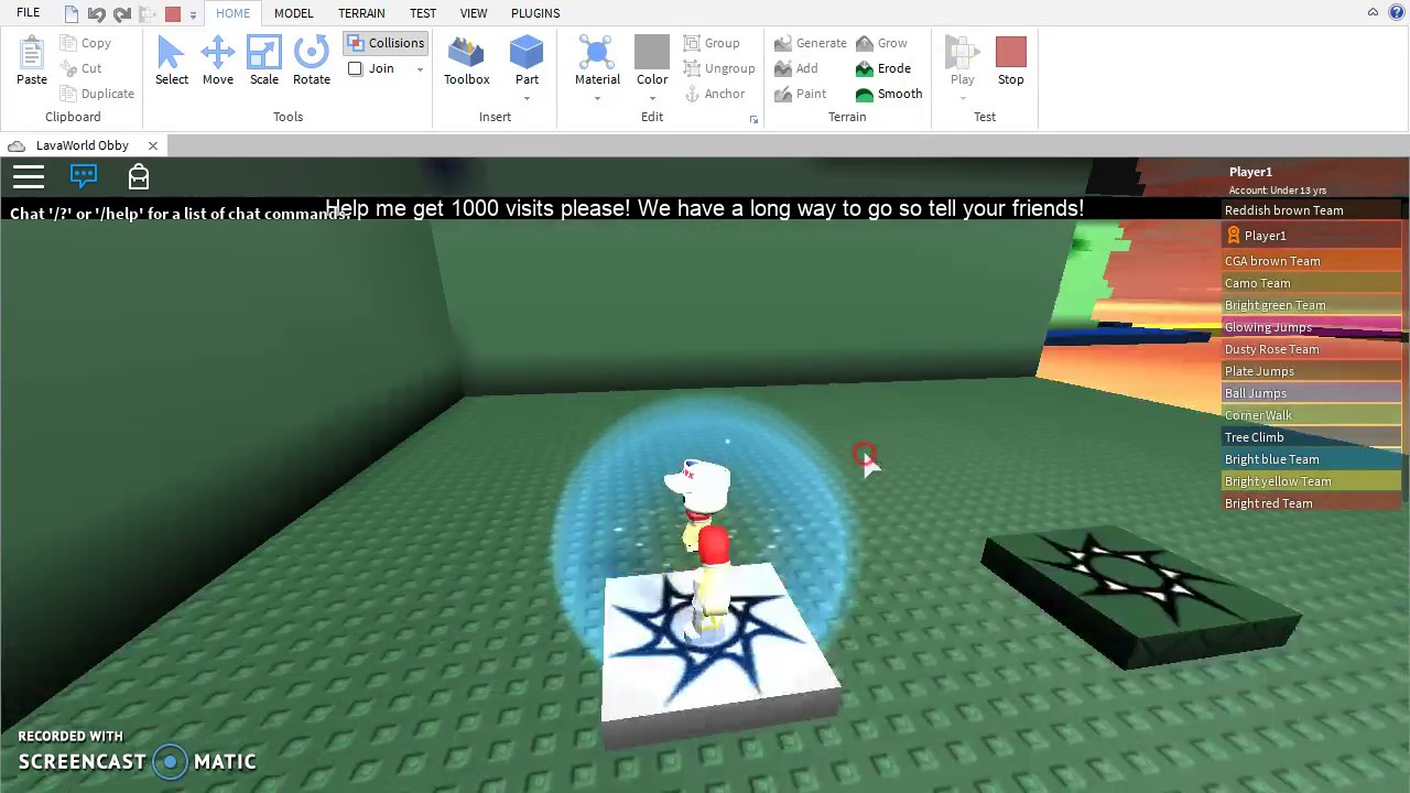 Roblox How To Make Obby Checkpoints Youtube