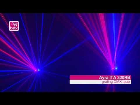 Demo - Ayra ITA 320RB grating DMX laser