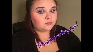 Simple Drugstore Makeup Look! Purple smokey eye.