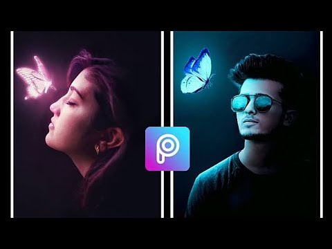 Picsart Tutorial - Edit Dark Tone Effect With Glowing Butterfly | Awesome Picsart Edit 2019