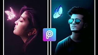 Picsart Tutorial - Edit Dark tone Effect with glowing butterfly | Awesome picsart edit 2020