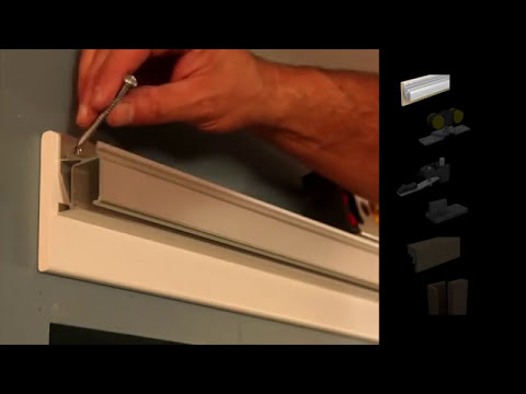 Saf clip straight sliding system for wooden doors with - Kit porte coulissante en applique ...