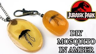 JURASSIC PARK MOSQUITO IN AMBER Polymer Clay & Resin Tutorial