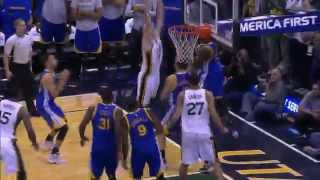 Rodney hood misses game-winner | warriors vs jazz | 11.30.2015