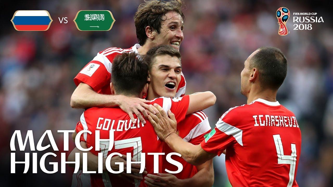 7ed96873a Russia v Saudi Arabia - 2018 FIFA World Cup Russia™ - MATCH 1 - YouTube