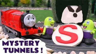 Thomas The Tank Engine and funny Funlings Mystery Tunnel toy train stories  TT4U